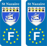 Lot de 2 stickers ville de St Nazaire Europe