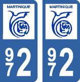 Lot de 2 adhésifs Martinique