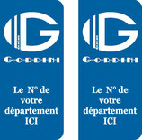 Lot de 2 stickers Gordini N° au choix