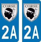 Lot de 2 Blasons Corse 2A Corse du Sud