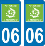 Lot de 2 stickers Parc du Mercantour n° 06