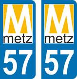 Lot de 2 stickers nouveau logo de la ville de Metz