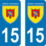 Lot de 2 stickers Ville de Sainte -Anastasie n° 15
