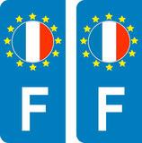 lot de 2 stickers Pays d'Europe France