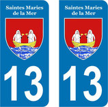Lot de 2 stickers de Saintes Maries de la mer