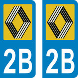 Lot de 2 stickers logo Vasarely avec N° 2B