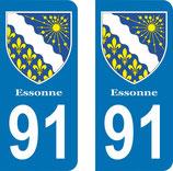 Lot de 2 Blasons Armoiries 91 Essonne