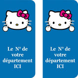 Lot de 2 stikers Hello Kitty n° au choix