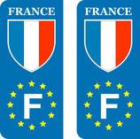 Lot de 2 stickers France Europe