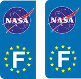 Lot de 2 stickers NASA Europe