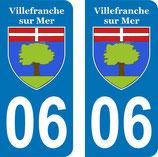 Lot de 2 stickers Villefranche sur Mer