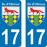 Lot de 2 stickers Armoiries Ile d'Oléron