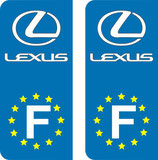 Lot de 2 stickers adhésifs LEXUS Europe