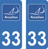 Lot de 2 stickers Logo ville d'Arcachon n°33