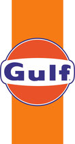 Logo GULF sur bande orange   180 mm de H x 94 mm
