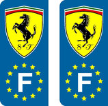 Lot de 2 stickers ovale Ferrari Europe