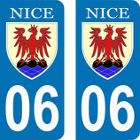 Lot de 2 stickers ville de Nice