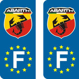Lot de 2 adhésifs Abarth nouveau logo Europe