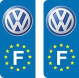 Lot de 2 adhésifs Wolkswagen nouveau logo Europe.