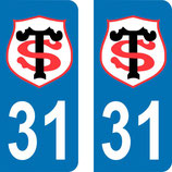 Lot de 2 stickers Stade Toulousain n° 31