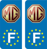 Lot de 2 stickers MG Europe.