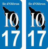 Lot de 2 stickers Logo Ile d'Oléron