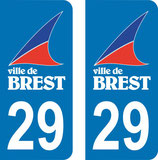 Lot de 2 stickers logo ville de Brest