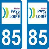 Lot de 2 adhésifs Pays de Loire 85 Vendée