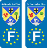 Lot de 2 stickers St Brevin les Pins Europe