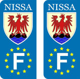 lot de 2 stickers Nissa Europe