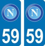 Lot de 1 paire SSC Napoli Europe et une paire SSC Napoli avec n° 59