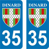 Lot de 2 stickers ville de Dinard N° 35