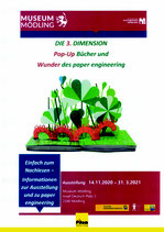 Die 3. Dimension - Pop-UP-Bücher und Wunder des Paper Engineering, Begleitbuch zur Ausstellung im Museum Mödling, A4 Softcover, 188 Seiten, ca. 150 Illustrationen