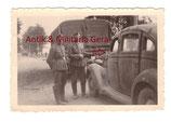 Original Foto 5. Gebirgs Division LKW mit Divisionssymbol Gams