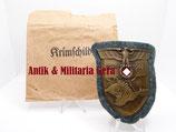 Krimschild mit original Verleihungstüte Friedrich Orth Set - sehr selten!