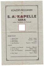 Seltenes Konzertprogramm SA Kapelle Gera