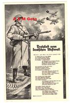 Propagandakarte Trutzlied vom deutschen Westwall