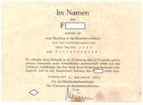 Urkunde Reichsbahn Danzig - Ernennung zum Rottenführer 1943