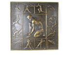 Plakette Westdeutscher Spielverband 1930 olympische Spielzeichen mit Signatur Gloeckler