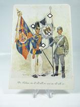Propagandakarte die Fahnen des O.I.R 91 und des I.R. 16