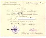 Kaiser Alexander Garde Grenadier Regiment Nr.1  Urkunde zum Ek2 1914 -extrem selten !