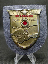 Original Krimschild auf Luftwaffenstoff Firma Rudolf Souval sehr selten!