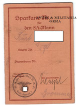 Sparkarte für den SA Mann extrem selten ! SA Thüringen
