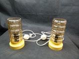60er/70er Jahre Nachttischlampen -traumhaftes Vintage Lampenpaar