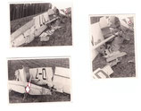 3 Fotos zerstörter  / abgestürzter Flieger Segelflieger ?