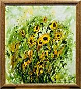 Sonnenblumen - 90x100 cm - Öl auf Hartfaser gerahmt