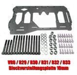 Blockversteifungsplatte 10mm mit 12.9 Schrauben VR6/R32