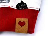 Label mit Herz