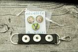 Upcycling Schlüsselanhänger mit Foto- Druckknöpfen
