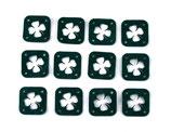 Quadratische Label Kleeblatt